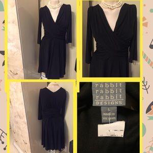 👗NEW RABBIT DESIGN BLACK DRESS SIZE 6👗